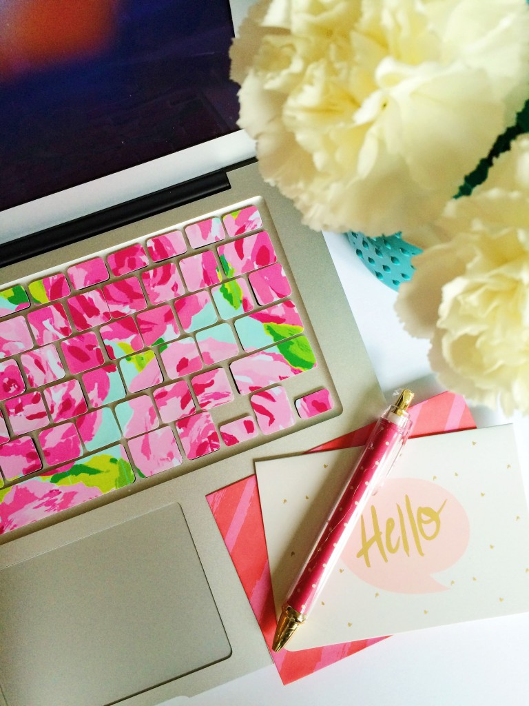lilly inspired keyboard using printable vinyl
