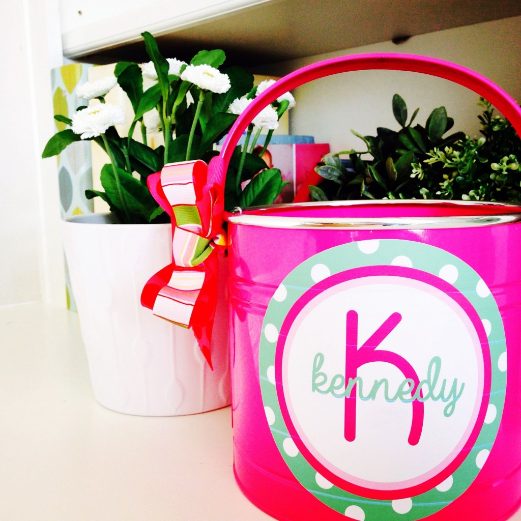 personalized easter basket using printable vinyl