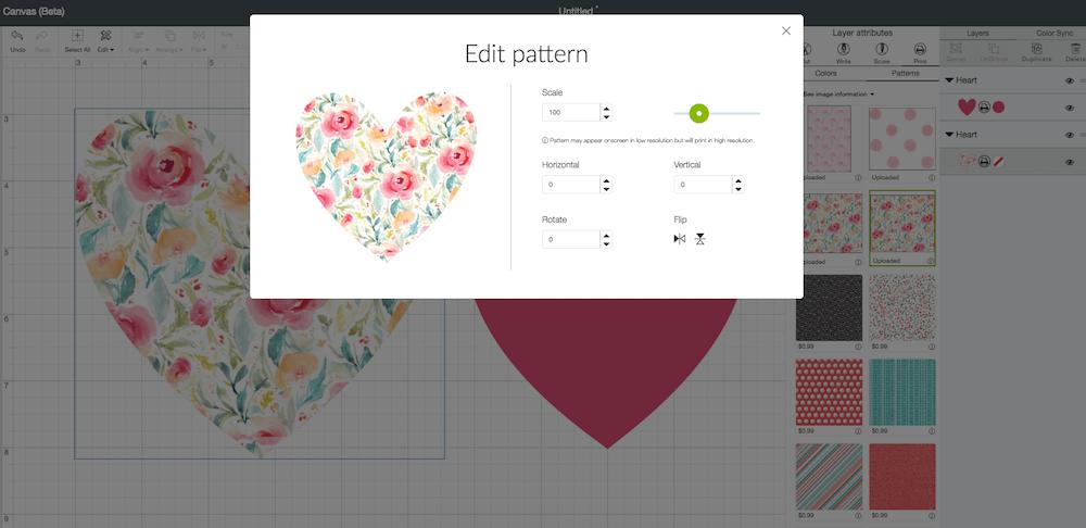 edit pattern